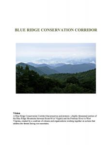 Blue Ridge Conservation Corridor