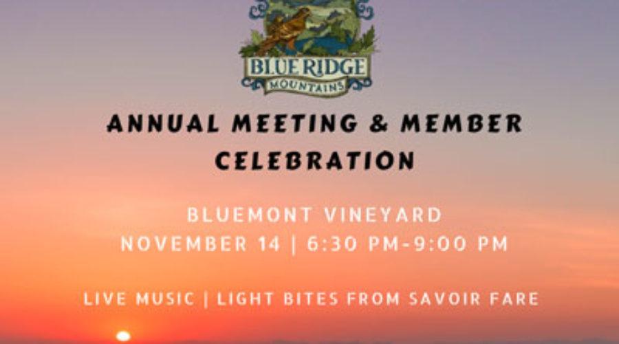 2019 Annual Meeting & Member Celebration